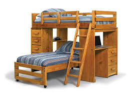 wood loft bunk bed with desk enjoy image on amusing bunk bed desk trundle combo stairs and plans desks over ikea