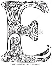 In english and spanish, uppercase and lowercase. Hand Drawing Letter E Stock Photos Images Pictures Colouring Sheets For Adults Coloring Letters Printable Coloring Pages