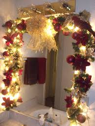 Decorating Bathroom Mirrors My Bathroom Garland For Christmas In 2011 Christmas Decor