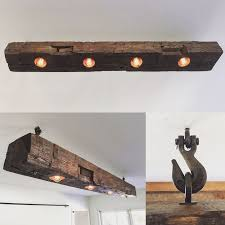 just finished this barn beam light fixture