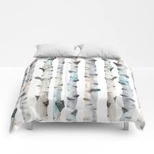 birch tree comforters by
