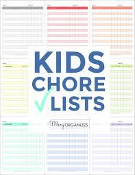 Kids Chores And Routines Checklists Creatingmaryshome Com
