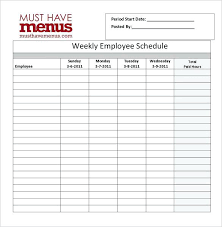 Hour Staff Duty Rota Template Maker Monthly Shift Schedule