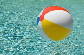 pool water with beach ball. Beach Ball Floating In Lovely Swimming Pool Water. Water With