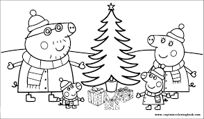 Delightful cold weather clothing happy christmas peppa pig coloring pages for preschool kids cute winter easy printable snow cartoons straightforward preschool lesson activities, main logo outline merry christmas clip art peppa pig drawing with snowy winter theme. Your Seo Optimized Title