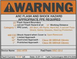 Electrical Ppe Chart 8 Things You Should Know About Arc Flash Labels Nfpa 8e