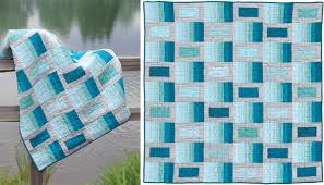 "Simple modern quilt designs (no art degree required) - Stitch This ... & Color Waves quilt "" Adamdwight.com"