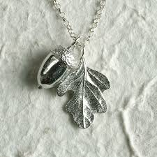 acorn and oak leaf necklace image 1 featured