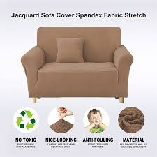spandex jacquard beige couch covers