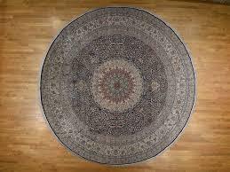 15 8 x16 pure silk tabriz 500 kpsi hand knotted xl round oriental rug cwr36991