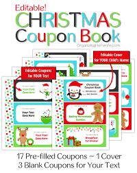 Printable Homemade Coupons Free Printable Christmas Coupon Book For Kids Holiday Seasonal