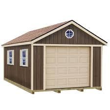 sierra 12 ft x 16 ft wood garage kit with sy built floor