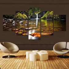 5 Pcs <b>Landscape</b> Canvas Art <b>Modular Pictures</b> Oil Painting On ...