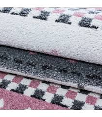 children s rug carpet design elephant umbrella heart rain grey pink white