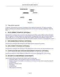Court Document Templates Architecture Document Template