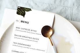 dinner template printable dinner party menu template design create