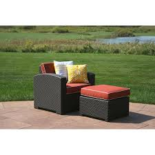 loggins patio chair with cushion and ottoman