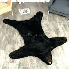 faux bear skin rug with head fake foot 3 inch black 5 fur shining rugs polar faux bear skin rug with head