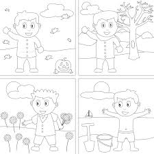 seasons coloring page