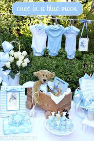 perfect theme for a boy shower once in a blue moon