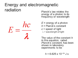 21 energy and electromagnetic radiation planck s law relates the energy of a photon to its frequency