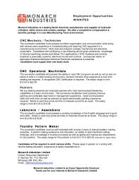 Jd Templates Cosy Machinist Resume Template On Samplesc Manual Lathe