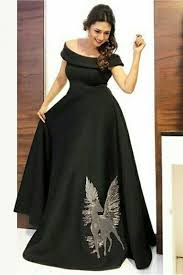 Designer Gown In Black Colour Youdesign Silk Gown In Black Colour