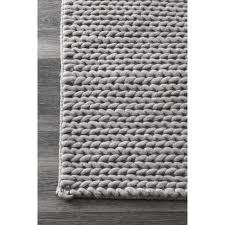 gray outdoor rug best of nuloom handmade chunky braided light grey wool runner rug 2 6