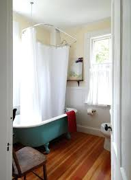 clawfoot bathtub shower curtain innovative bathtub in bathroom beach style with cafe curtains next to ceiling
