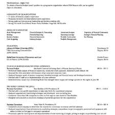 Finance Resume Objective Strong Resume Objectives Career Objective For Sample 24 6
