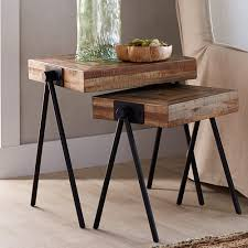 Nesting Tables Colorful Wooden Nesting Tables Home Daccor Vivaterra