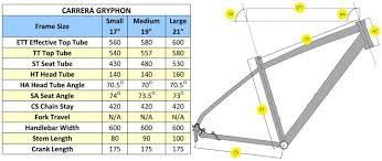 Carrera Bike Size Chart Carrera Frame Size Guide Viewframes Co