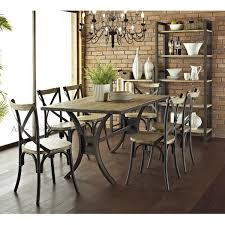 wood and wrought iron furniture. American Country Wood Dining Tables And Chairs Wrought Iron Combination Of Fast Food Furniture S
