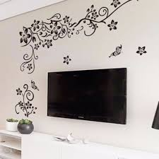 hot diy wall art decal decoration fashion romantic flower wall sticker wall stickers home decor 3d wallpaper free shipping on home decorating stick on wall art with hot diy wall art decal decoration fashion romantic flower wall