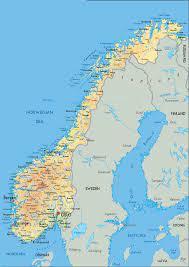 Cartina della Norvegia – Norvegia