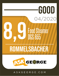 <b>Rommelsbacher</b> Food Steamer DGS 855 - test review (<b>12</b>/2019)