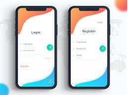 App Design Dribble Signin Register Dribble Ios App Design Android App Design
