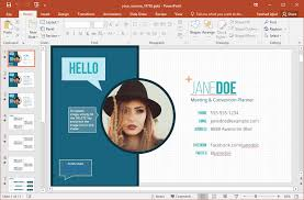 Powerpoint Resume Template Stunning Cv Presentation Template Resume Animated Powerpoint Template