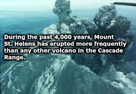「Mount St. Helens went from 9,600 feet high to only 8,300 feet high in a matter of seconds.」の画像検索結果