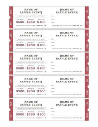 Free Raffle Ticket Templates For Word Dinner Fundraiser