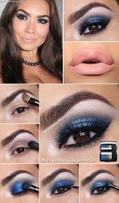wedding makeup for brown eyes midnight rush blue smokey lips