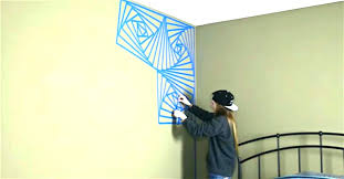 painters tape wall design ideas designs with the paint in 6 using for easy craft inside
