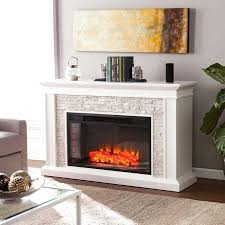 white corner fireplace electric mantel led off