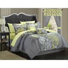 chic home olivia  piece paisley print reversible comforter set