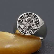 us marine corps force recon usmc military jewelry sterling silver ring custom your jewelry on
