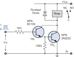 relay switch circuit and relay switching circuit npn darlington relay switch circuit