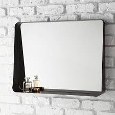 Black Horizontal Arch Wall Mirror
