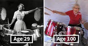 This Woman Started Drumming In 1920 And She Still Has What It Takes At The  Age Of 106 | Bored Panda
