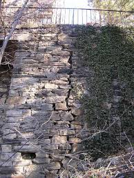 old stone retaining walls