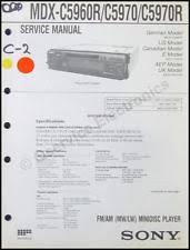 mdx 5970 sony mdx c5960r mdx c5970r minidisk player service manual complete diagrams